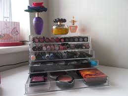 muji acrylic makeup storage drawers midlife crisis beauty addict
