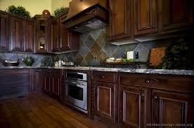 Kitchen Idea Of The Day Traditional Dark Cherrystained Kitchens - Kitchen backsplash ideas dark cherry cabinets