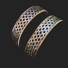 bracelet gold white gold images Designer bangle white gold finish criss cross patterndaily wear jpg