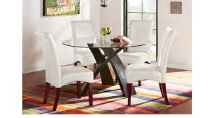 del mar ebony 5 pc round dining set contemporary