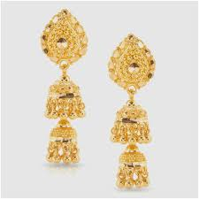 gold jhumka earrings design with price earring gold jewellery designs gold jhumka earrings designs at