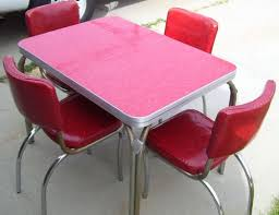 Retro Red Kitchen Chairs - 48 best chrome tables images on pinterest vintage kitchen