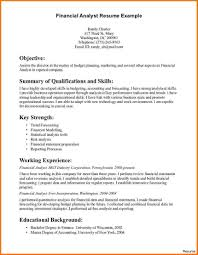 data analyst resume financial analyst resume objective exles of entry level resumes