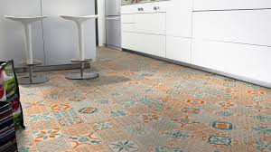 tarkett vinyl starfloor click 30 orange blue retro 36001003