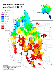 Colorado River On A Map by Mountain Snowpack Map Western Us