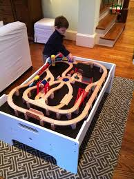 melissa doug activity table all aboard train table playrooms and room
