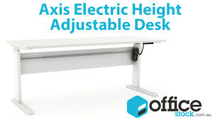 Electronic Height Adjustable Desk by Axis Electric Height Adjustable Standing Desk Youtube