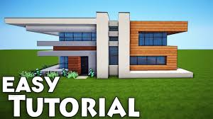 modern home design build easy modern house minecraft tutorial modern minecraft house design
