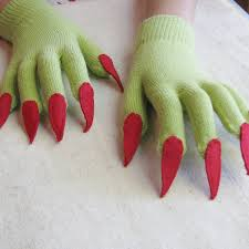 gloves with claws for a dragon witch etc costume esp a