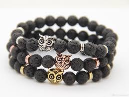 halloween beads wholesale 2016 new arrival mens beaded bracelets wholesale 8mm lava rock