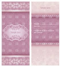 Invitation Cards Templates Free Download Pink Lacy Invitation Wedding Or Greeting Card Template Vector