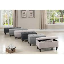 Padded Storage Bench Charlton Home Darrah Upholstered Storage Bench Reviews Wayfair