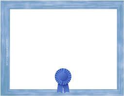 blue certificate template printable word docs