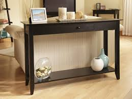 Black Console Table With Storage Furniture Front Entrance Table Ikea With Classic Black Console