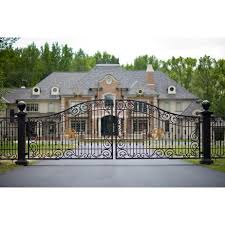 best 25 wrought iron driveway gates ideas on iron
