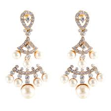 Vintage Pearl Chandelier Earrings Earrings Stylish And Pretty Stunning Vintage Pearl Earrings