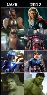 Meme Comic Characters - comic book meme 005 marvel heroes movies old 1978 new 2012