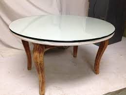 stained table top painted legs geometric coffee table milwaukee habitat for humanity
