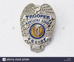kentucky state police trooper badge stock photo royalty free