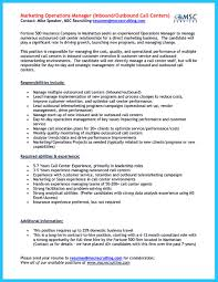 Resume For Call Center Sample Inbound Call Center Resume Free Resume Example And Writing Download