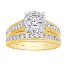 gold bridal set 1 25 tcw diamond 3 bridal set in 10k yellow gold unclaimed