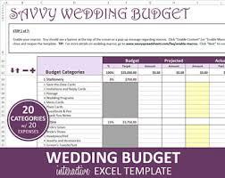 wedding expenses budget wedding etsy