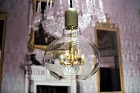 Miniature Chandelier Crystal Mini Crystal Chandelier In A Light Bulb U2013 The Edison Lamp