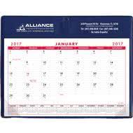 promotional red and black 2018 basic desk pad calendars with