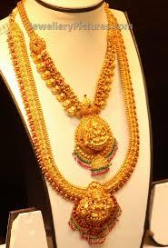 gold haram sets lakshmi haram and mango mini haram jewellery designs