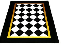 Black And White Checkered Kitchen Rug Black And White Harlequin Rug Rug Designs