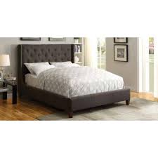 Tufted King Bed Frame Beds Upholstered King Bed With Tufted Headboard