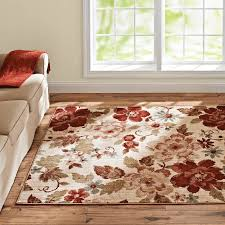 Walmart Red Rug Better Homes And Gardens Floral Ivory Area Rug And Runner