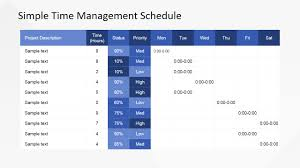 time management weekly planner template simple time management powerpoint table slidemodel simple time management powerpoint table