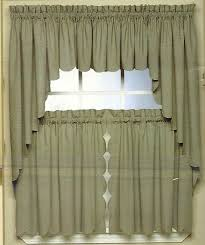 Curtains Valances And Swags Scallop Edge Curtain Valance Tiers Swag Various Colors Ebay