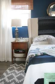 small nightstand organization craftivity designs master bedroom makeover grey rug navy walls white curtains white bedding