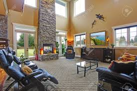 open floorplans luxury house open floor plan spacious living room with high