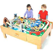 imaginarium metro line train table amazon toys r us wooden train table set metro line real wood and
