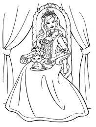 barbie princess coloring pages coloring pages