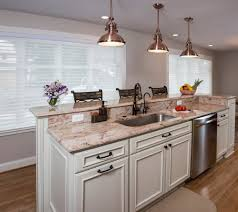 imposing eating bar kitchen islands with copper pendant island