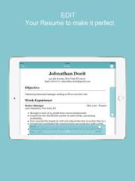 Resume Cv Builder Resume Builder Cv Designer On The App Store