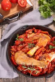 cuisine poulet basquaise recette cuisses de poulet basquaise