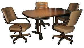 kitchen table with caster chairs swivel dining room chairs dining table with caster chairs dining