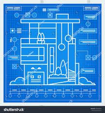 house blueprint scheme vector stock vector 373940632 shutterstock