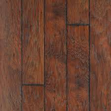 Scratched Laminate Wood Floor Shop Style Selections 6 14 In W X 4 52 Ft L Barrel Hickory