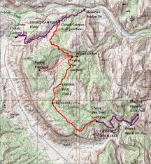 capitol reef national park map frying pan trail and frying pan capitol reef national park
