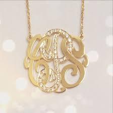 monogrammed necklace gold monogrammed necklace gold necklaces news