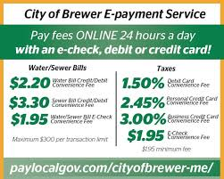 online utility payments u2022 the city of brewer maine