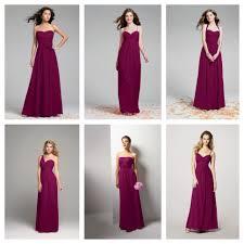 sangria bridesmaid dresses sangria color bridesmaid wedding ideas sangria