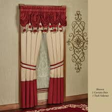 kitchen curtain valances of needs christmas holiday window treatments curtains valances touch of class