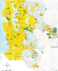 seattle map by county king county sets growth boundary on july 6 1992